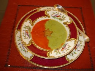 Red and Green Christmas Soup
