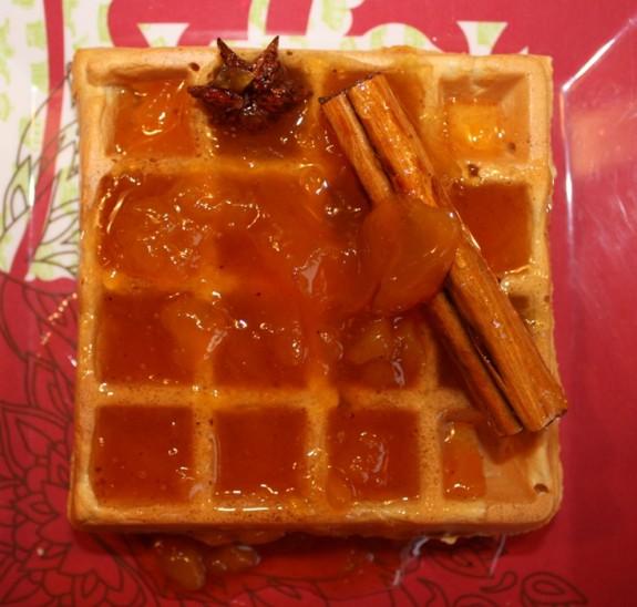 Peach on Waffle