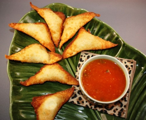 Crab Rangoons (Crab Puffs) With Sweet And Sour Sauce Recipe ...