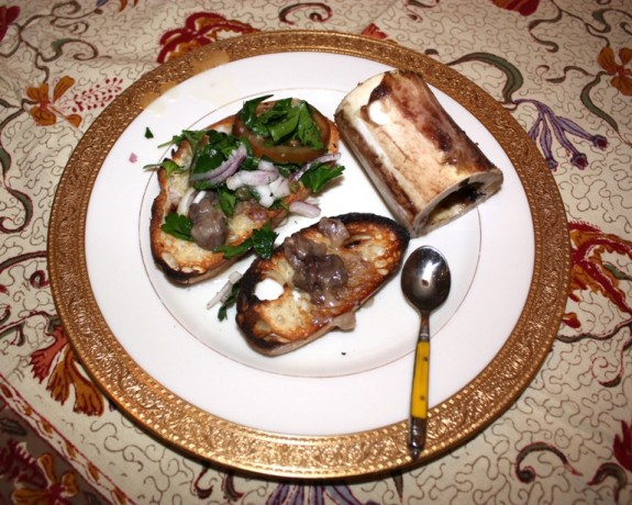 ROASTED MARROW BONES WITH PARLSEY SALAD -  SSD #14