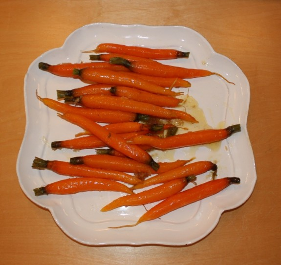 CARROTS WITH HORSERADISH AND HONEYCOMB
